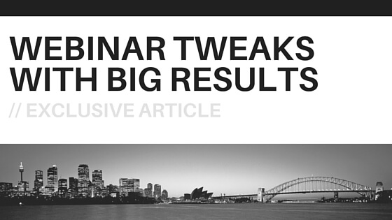 webinar tweaks and hacks for higher sales conversion
